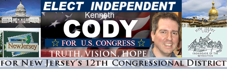 Kenneth Cody For Congress Header