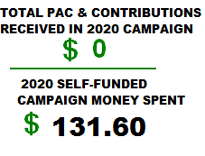 Money Spent on Campaign for - Website, Video, Mailbox, Business Cards, Address Labels, Postage, Mailings, Bumper Stickers, Lawn Signs!
